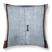 Old Metal Door Throw Pillow