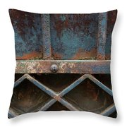 Old Metal Gate Detail Throw Pillow