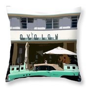 Old Miami Beach Throw Pillow
