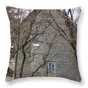 Old Mill Building Throw Pillow