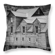 Old Mill Buildings Throw Pillow