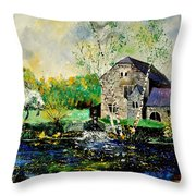 Old Mill In April Throw Pillow