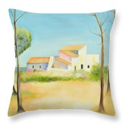 Old Mill In The Algarve Throw Pillow