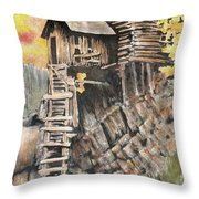 Old Mill In The Rockies Throw Pillow