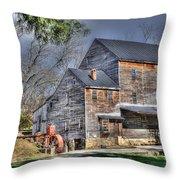 Old Mill Nelson County Virginia Throw Pillow