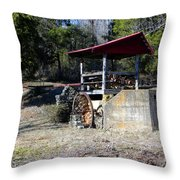 Old Mill Of Guilford Pumphouse Throw Pillow