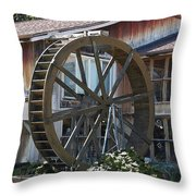 Old Mill Store Entry To Caverns Throw Pillow