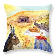 Old Miners Dream Throw Pillow
