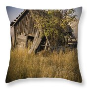 Old Miner's Shack Throw Pillow