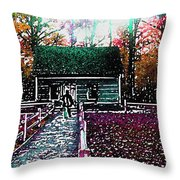 Old Mission Point Cabin Throw Pillow