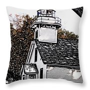 Old Mission Point Throw Pillow