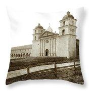 Old Mission Santa Barbara, Cal Circa 1895 Throw Pillow