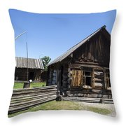 Old Model House  Throw Pillow