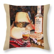 Old Montana Red Eye Throw Pillow