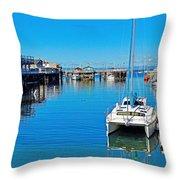 Old Monterey Wharf Throw Pillow