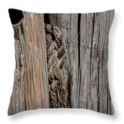 Old Moorings With Rope Throw Pillow