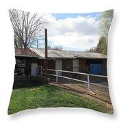Old Mormon Barn Throw Pillow