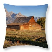 Old Mormon Farm Throw Pillow