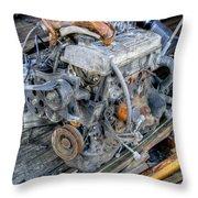 Old Motor Throw Pillow