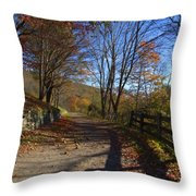 Old Mountain Road Throw Pillow