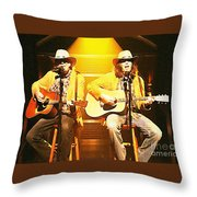 Old Neil And Young Neil Together Throw Pillow
