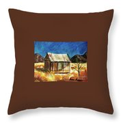 Old New Mexico Cabin Throw Pillow