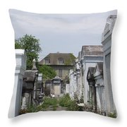 Old New Orleans Cemetery - The Big House  Throw Pillow