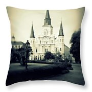 Old New Orleans Throw Pillow