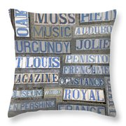 Old New Orleans Street Tiles Throw Pillow