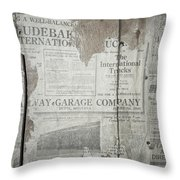Old News Throw Pillow