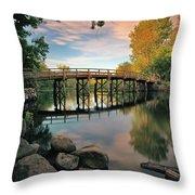 Old North Bridge Throw Pillow by Rick Berk