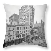 Old Nyc New Amsterdam Theater Photograph - 1905 Throw Pillow