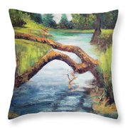 Old Oak Fallen Throw Pillow