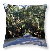Old Oak Tunnel Throw Pillow