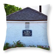 Old Oil House Throw Pillow
