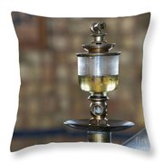 Old Oil Sight Glass In Industry Throw Pillow