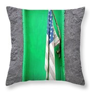 Old Old Glory Throw Pillow