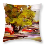 Old Olive Tree Throw Pillow