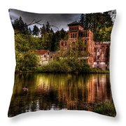 Old Olympia Brewery Throw Pillow