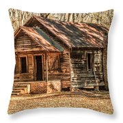 Old One Room School House Throw Pillow
