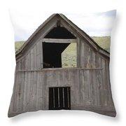 Old Oregon Barn Throw Pillow