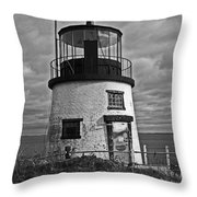 Old Owls Head Lighthouse Throw Pillow