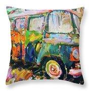 Old Paint Car Throw Pillow