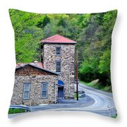 Old Paint Mill Spring Time Throw Pillow