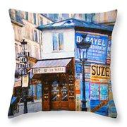 Old Paris Cafe Throw Pillow