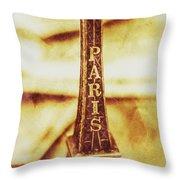 Old Paris Decor Throw Pillow
