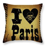 Old Paris Throw Pillow