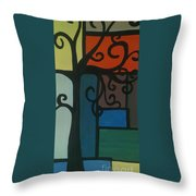 Old Pattern Throw Pillow