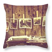 Old Photo Archive Throw Pillow