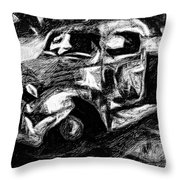 Old Pickup In Winter Throw Pillow